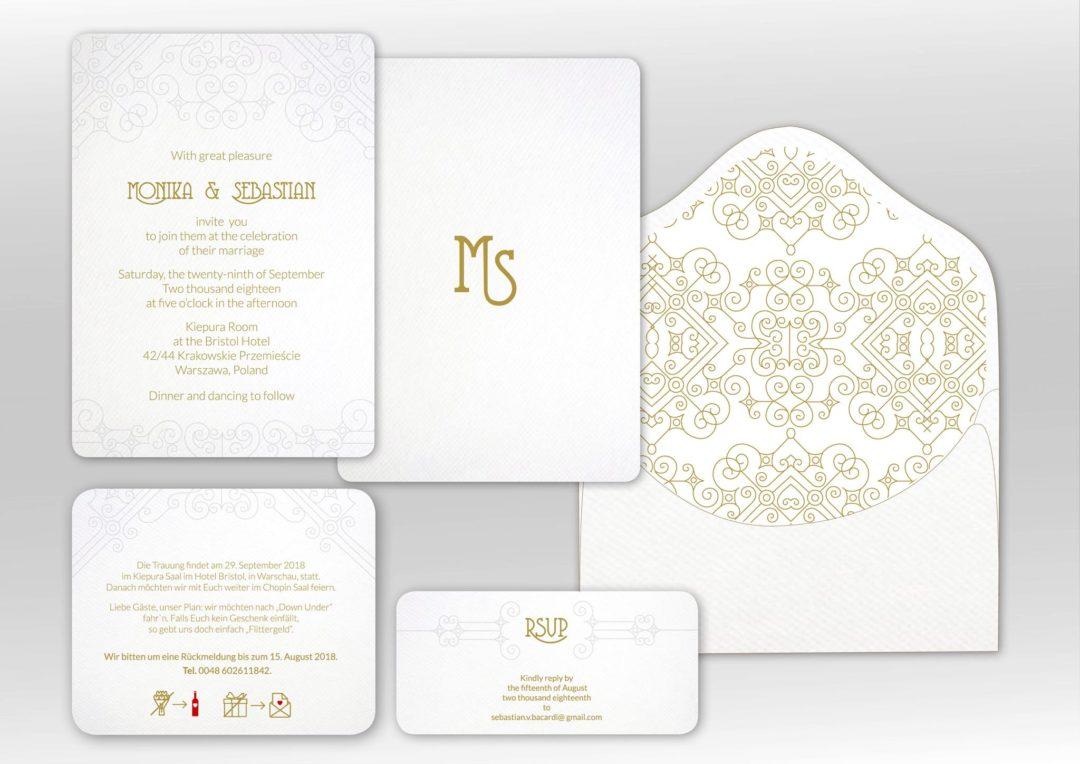 Letterpress wedding stationary
